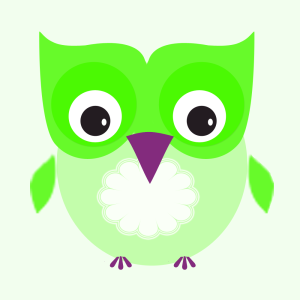 owly greenpurple